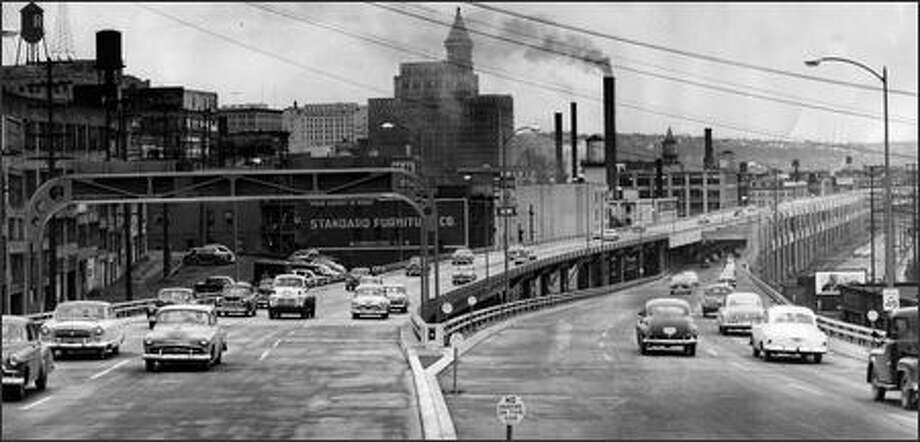 The first phase of the viaduct was completed in April 1953. Photo: / P-I File
