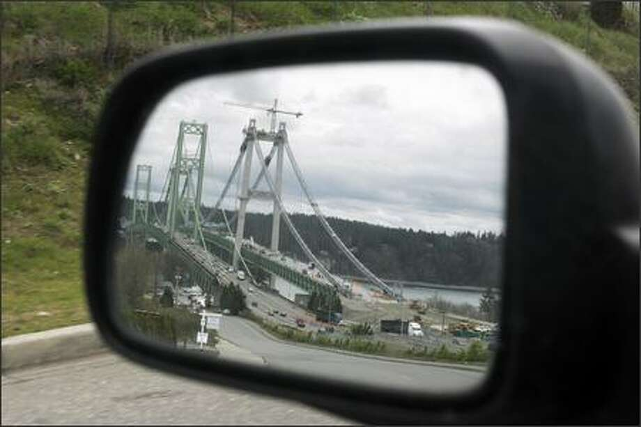 The drive to Gig Harbor from Seattle includes a view of the newly constructed second span of the Tacoma Narrow Bridge. Photo: MERYL SCHENKER/P-I