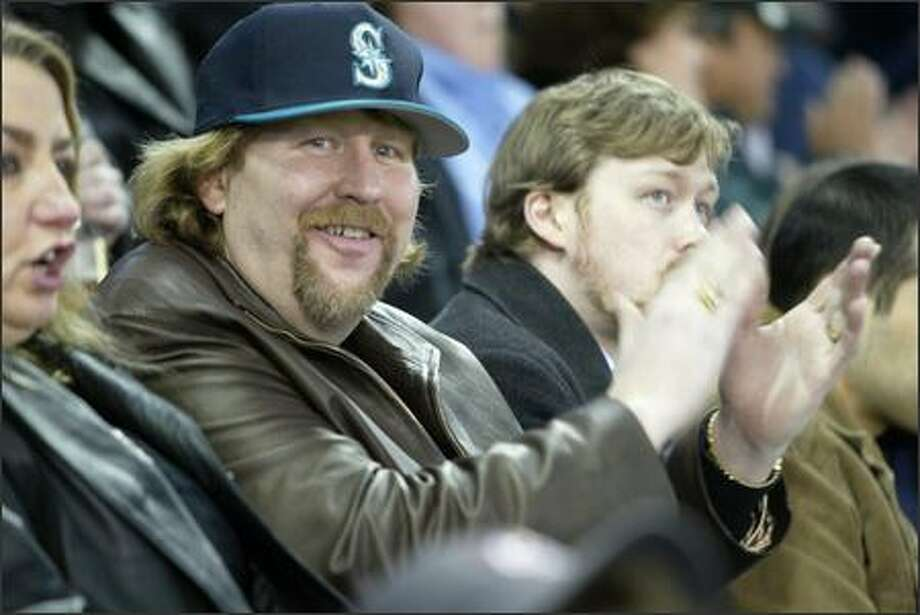 David Keller of Federal Way -- the first fan through the gate 30 years ago at the 1977 Mariners' inaugural opener at the Kingdome  -- was on hand for the Mariners' opener Monday at Safeco Field. Photo: Joshua Trujillo/Seattle Post-Intelligencer