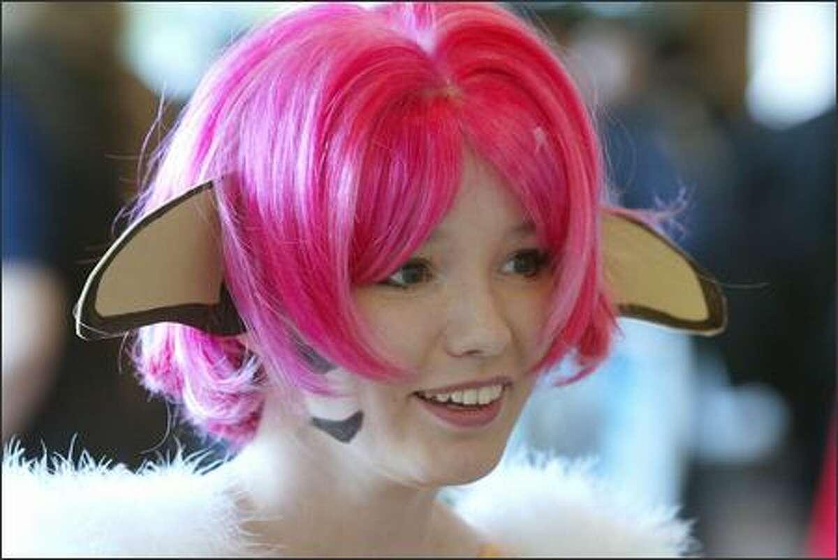 "Selah resident Jamie Scott dressed as Merle, from the Japanese TV series ""Escaflowne,"" at Sakura-Con 2004."