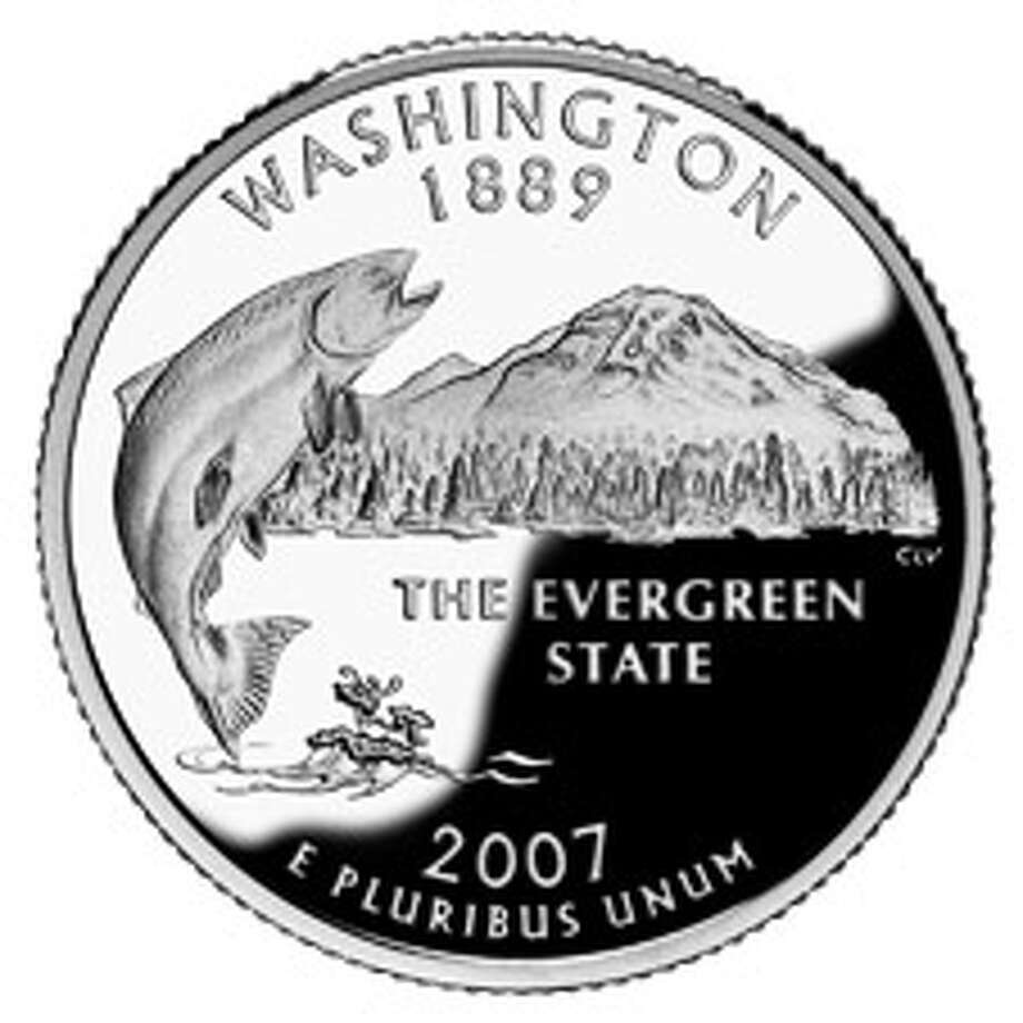 The design of Washington's state quarter.