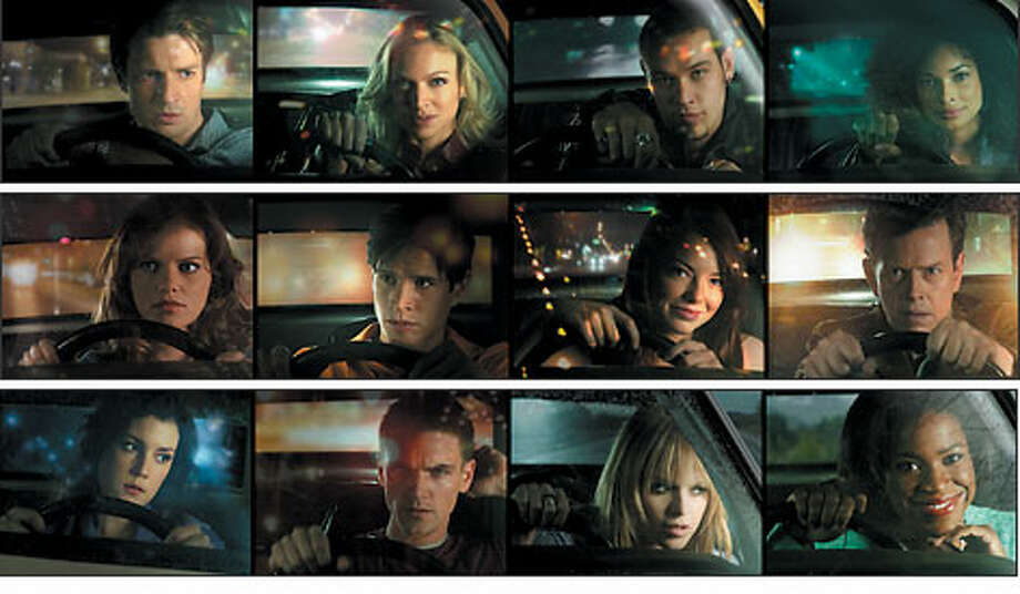 "The stars of ""Drive,"" by row from left: TOP: Nathan Fillion, Kristin Lehman, Kevin Alejandro, Rochelle Aytes. MIDDLE: Mircea Monroe, JD Pardo, Emma Stone, Dylan Baker. BOTTOM: Melanie, Lynskey, Riley Smith, Taryn Manning, Michael Hyatt. Photo: FOX-TV"