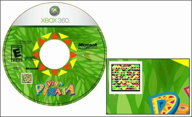 The new bar code is seen on an Xbox 360 video-game disc. Photo: / Microsoft