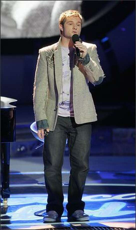 "Blake Lewis performs on Tuesday's ""American Idol."" Photo: / Fox"