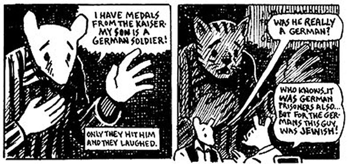 """In a recent lecture, Rifas discussed one of the most famous graphic novels, Art Spiegelman's """"Maus,"""" which tells the story of the Holocaust with Jews depicted as mice and Germans as cats. The historically significant publication from the 1980s legitimized comics, Rifas said."""