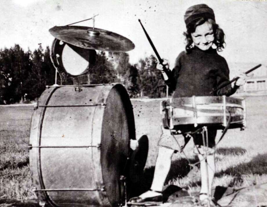 A four-year-old Harry James plays drums in Beaumont in 1920. Enterprise file photo Photo: File / Beaumont