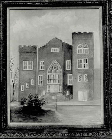 This painting shows how Mount Zion Baptist Church looked from 1918 to 1970. (Enterprise file photo)