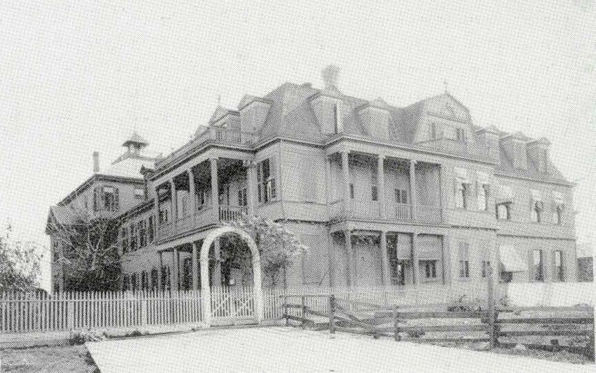 The original Hotel Dieu Hospital was on Sabine Pass Street near what is now the Port of Beaumont. Ph