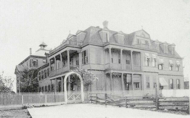 The original Hotel Dieu Hospital was on Sabine Pass Street near what is now the Port of Beaumont. Photo courtesy of the Tyrrell Historical Library