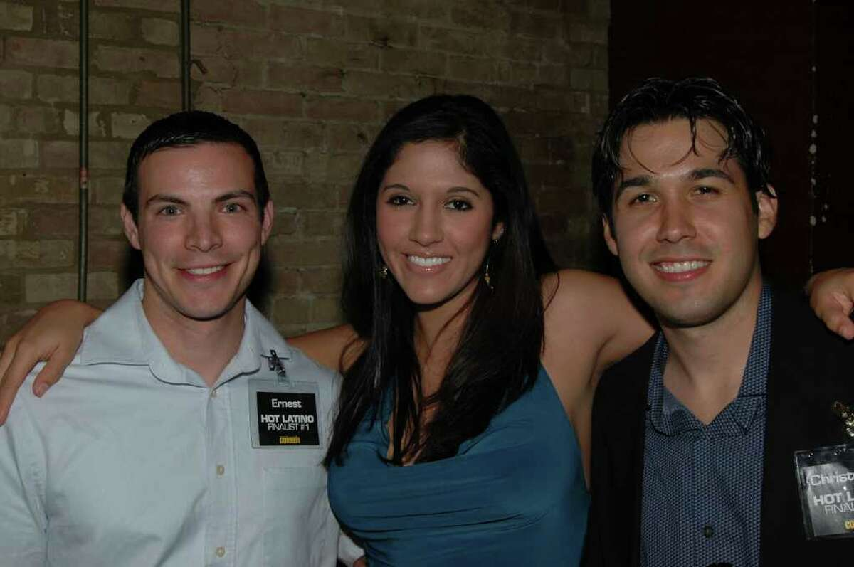 CONEXION -- Hot Latina Marla Burns is accompanied by Ernest Chacon Jr. (left) and Christopher Mendoza.