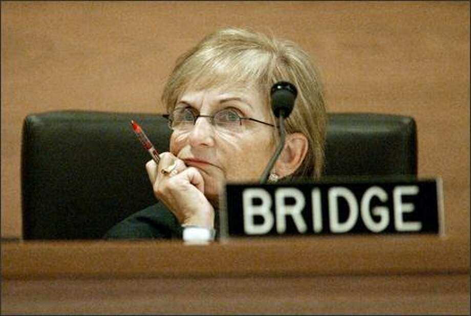State Supreme Court Justice Bobbe Bridge in January 2006. Photo: Mike Urban/Seattle Post-Intelligencer