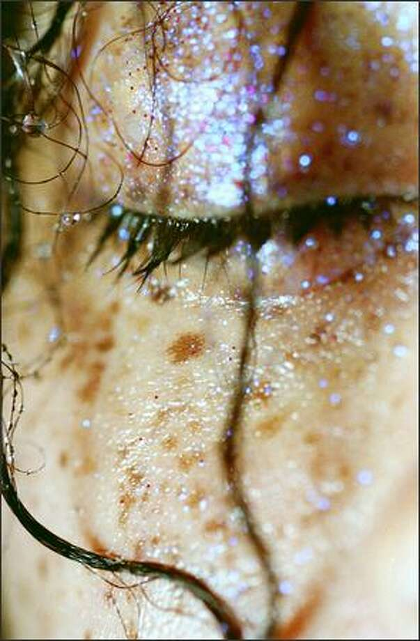 """The spirit rocks in Marilyn Minter's photos. Seen here is """"More Spots,"""" 2005, C-print, No. 4 from an edition of five, 50 by 36 inches. Photo: /"""