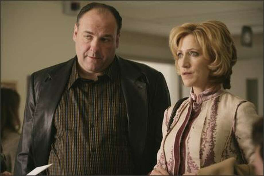 "Carmela (Edie Falco) held her own with husband and mobster Tony (James Gandolfini) during ""The Sopranos' "" run. Photo: HBO"