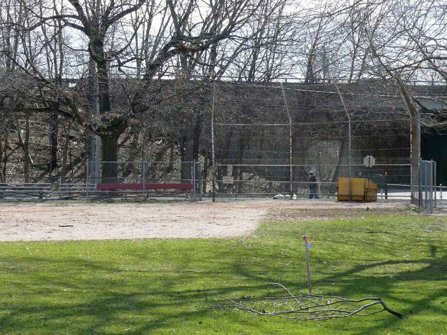 Plans by the American Little League to renovate two ballfields at Gould Manor Park has the Gould Manor Neighborhood Association crying 'foul.' Photo: Genevieve Reilly / Fairfield Citizen