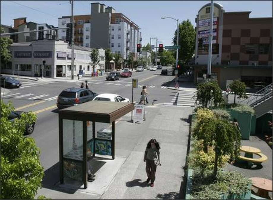 The Roosevelt district is updating its neighborhood plan because of the addition of light rail. Photo: Meryl Schenker/Seattle Post-Intelligencer
