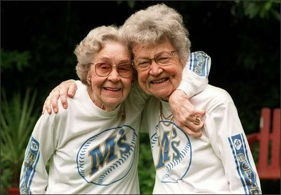 "Sisters Agatha ""Pete"" Doman, left, and Ole Pfau were big Mariners fans who went to spring training every year. Photo: / Seattle Post-Intelligencer"