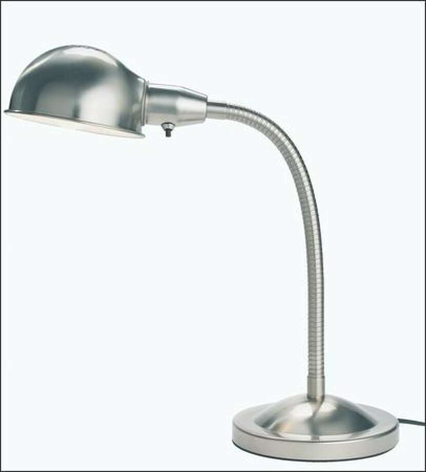 Ikea's 19-inche Format Lamp, with adjustable arm and head, is $24.99. Photo: /