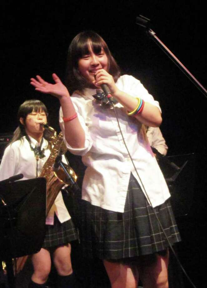 """A high school student from Japan performs during the """"Jam for Japan"""" fundraiser at Fairfield Theatre Company's StageOne Monday night. Photo: Kirk Lang / Fairfield Citizen"""