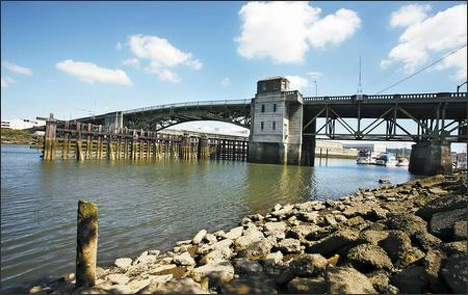 "South Park Bridge, which spans the Duwamish River, is one of the oldest bridges in King County and is of some concern to authorities. On a ""sufficiency rating"" scale of zero to 100, this bridge scored only a four. Photo: Paul Joseph Brown/Seattle Post-Intelligencer"
