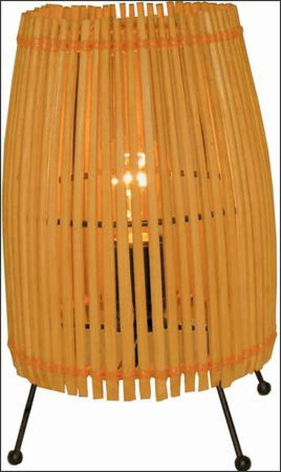 Chopstick light fixture Photo: /