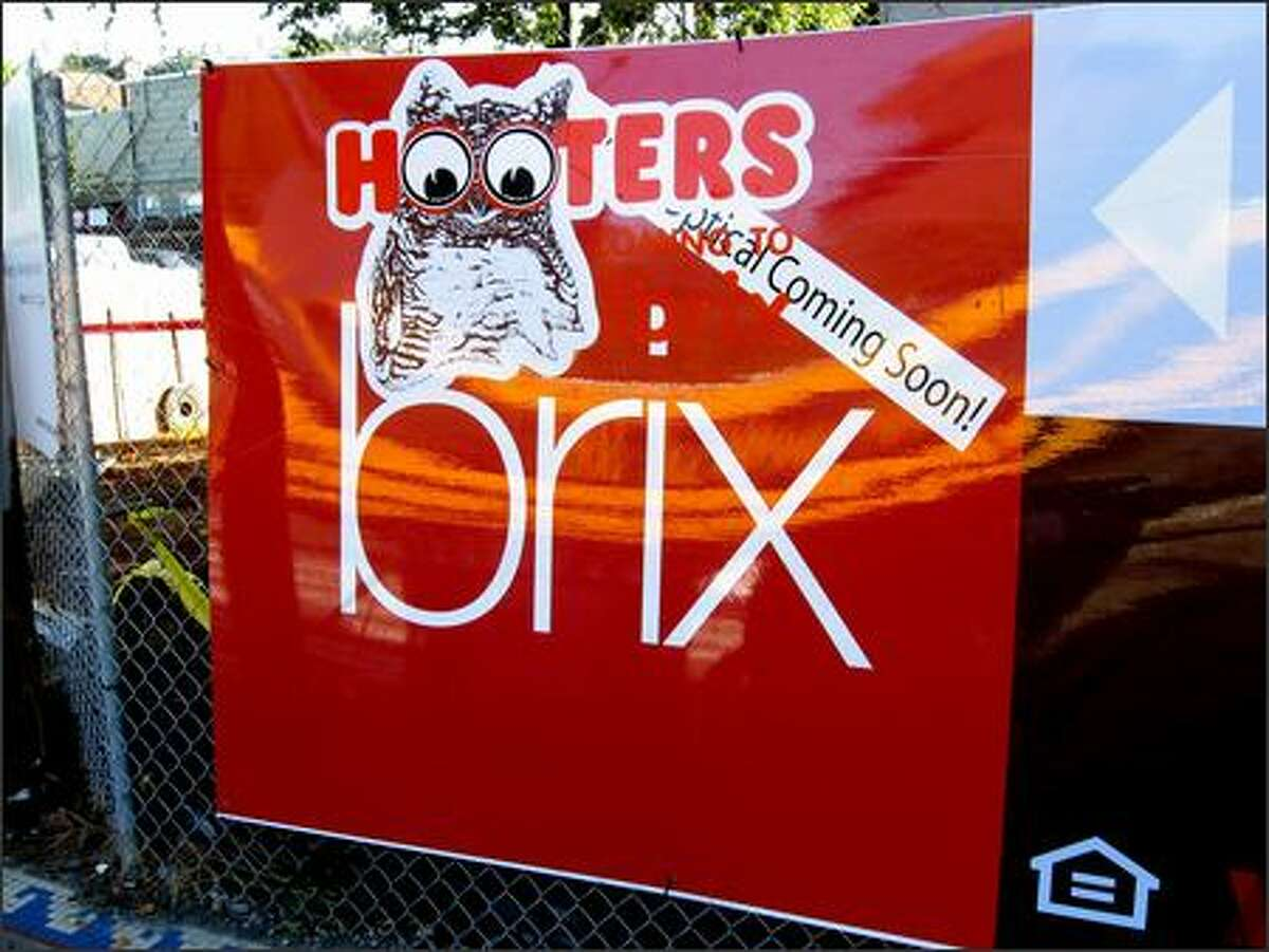 Someone added a Hooters sticker to the Brix project's banner.