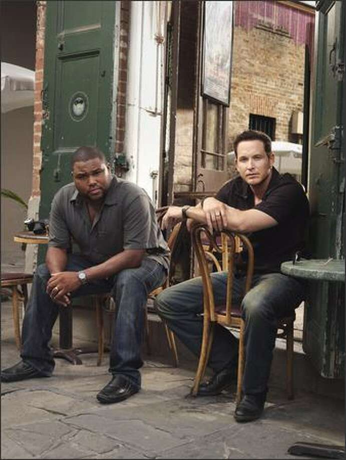 "Fox's shot-in-New Orleans cop drama ""K-Ville"" stars, from left, Anthony Anderson and Cole Hauser. Photo: /"