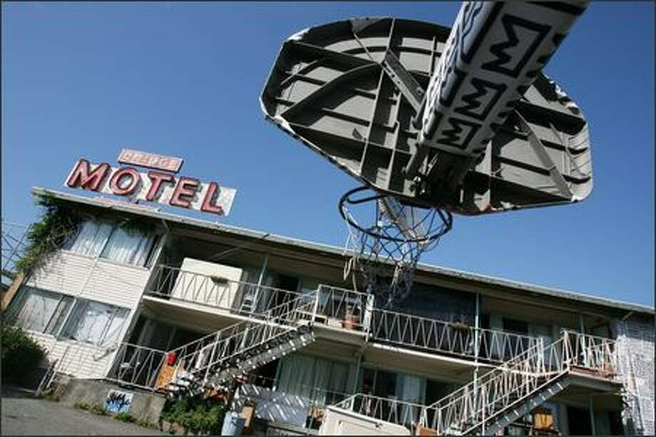 Before the wrecking ball hits, the Bridge Motel will be transformed by art installations and performances that revel in the spirit of the place. Photo: Mike Urban/Seattle Post-Intelligencer