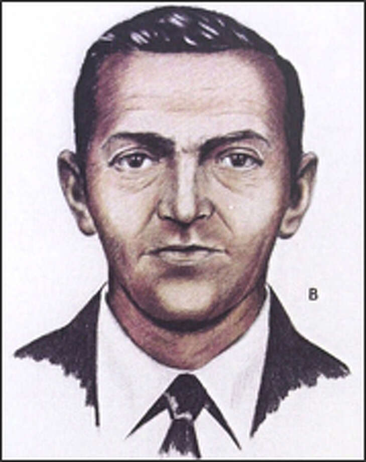 FBI artist's rendition shows D.B. Cooper as he looked in 1971 when he skyjacked a jetliner. Photo: THE ASSOCIATED PRESS / PENSACOLA NEWS JOURNAL-HANDOUT