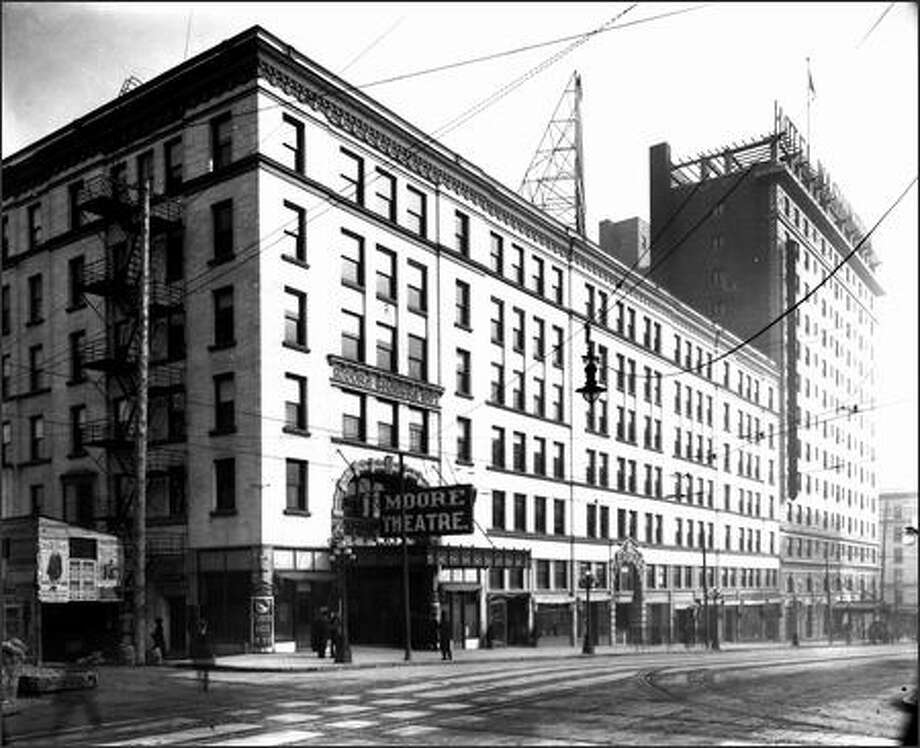 The opulent Moore Theatre on Second Avenue is seen about 1909. Photo: / Museum Of History And Industry