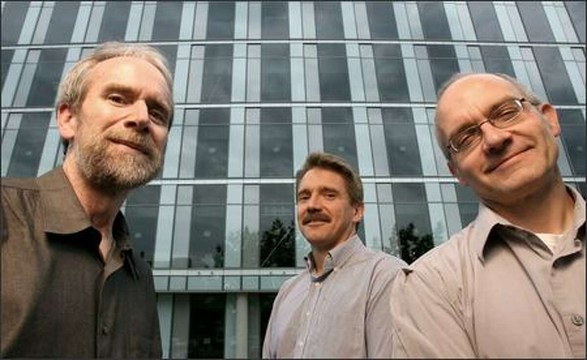 Dr. Randall Moon, director of the UW's soon-to-be Institute for Stem Cell and Regenerative Medicine, and Dr. Chuck Murry and Dr. Anthony Blau, co-directors, are shown in front of the South Lake Union facility. Of making the commitment to the field, UW President Mark Emmert says,