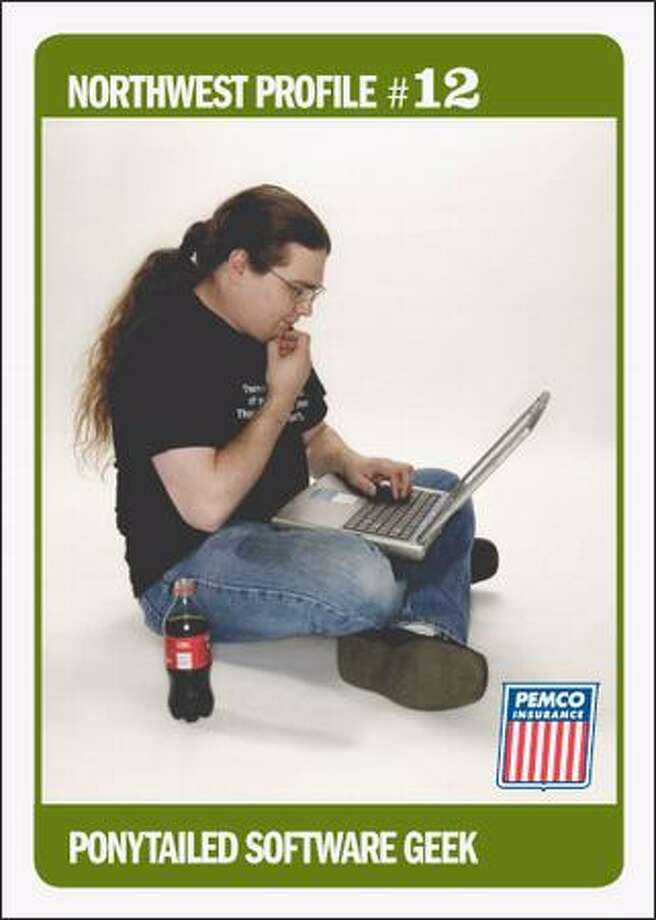 """Ponytailed Software Geek"" jams to the ""Star Trek"" theme. Photo: /"