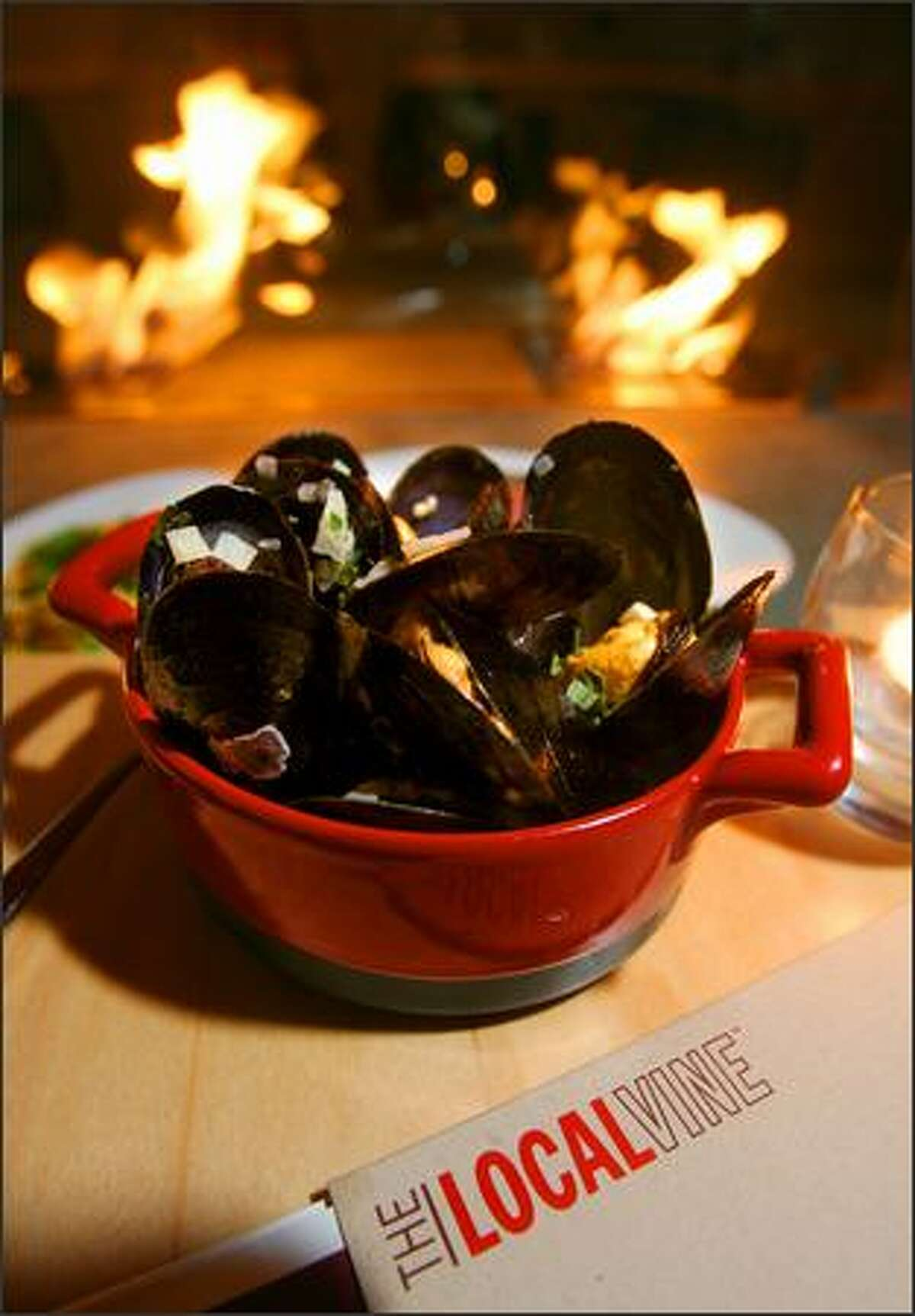Taylor mussels are served in chardonnay butter and herbs. The menu is continuing to evolve.