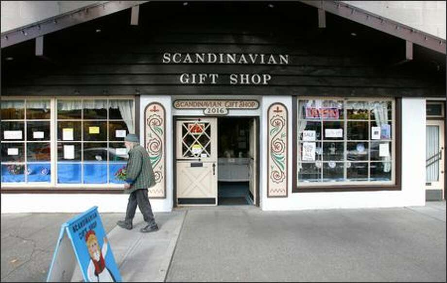 After 26 years as a fixture on Market Street in Ballard, the Scandinavian Gift Shop, with its distinctive ski chalet entrance and four-foot troll, is closing its doors. Photo: Gilbert W. Arias/Seattle Post-Intelligencer