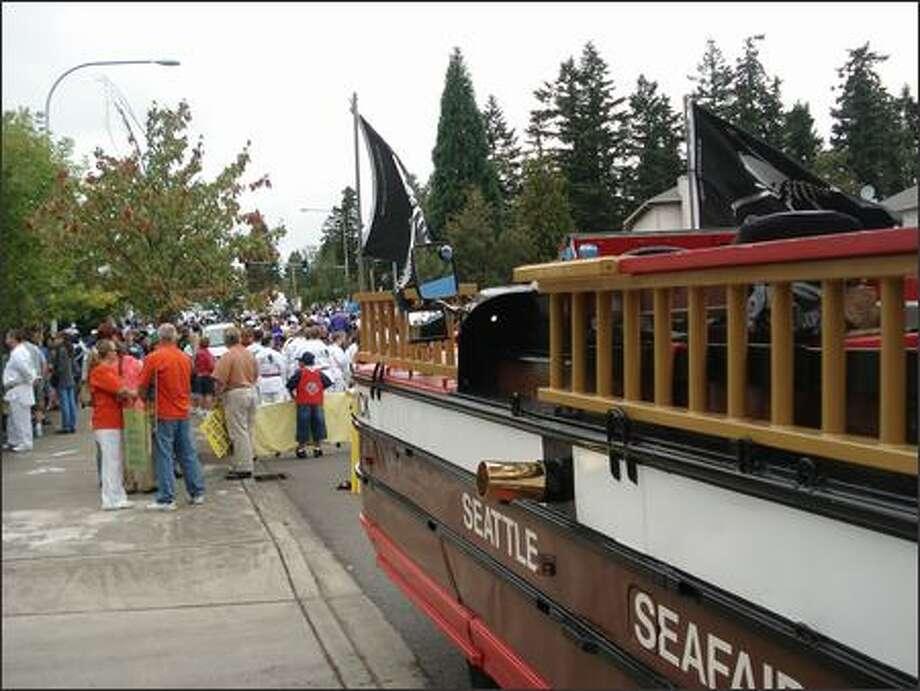 The Seafair Pirates are seeking the help of the public to find six gold-plated cannon barrels stolen from their ship, the Moby Duck. The barrels are merely for show -- they're not dangerous. Photo: /