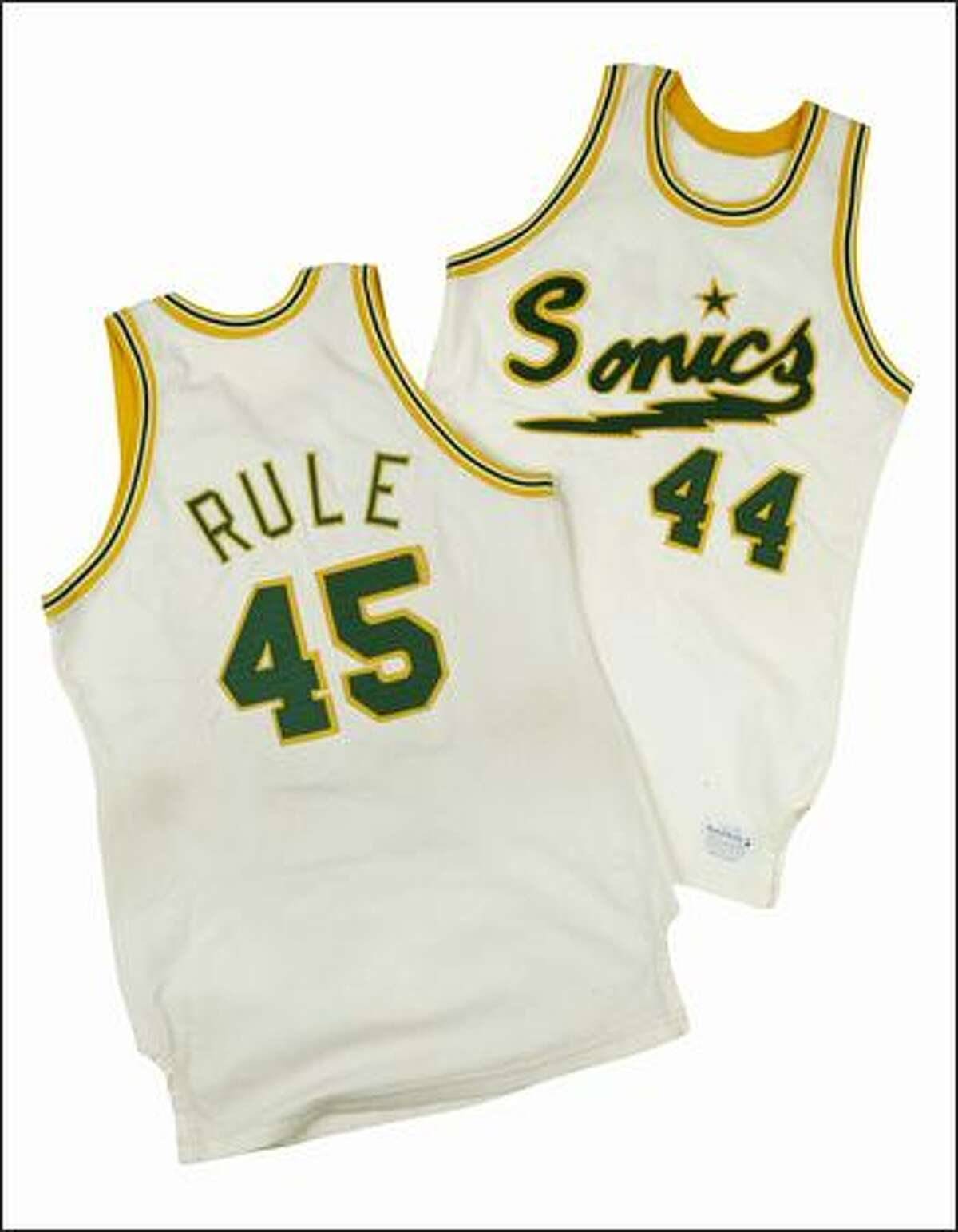 Bob Rule played forward and center for the original Sonics. One of his teammates was No. 44, Rod Thorn, a guard who went on to be the NBA's executive vice president of basketball operations. Thorn is currently president of the New Jersey Nets.