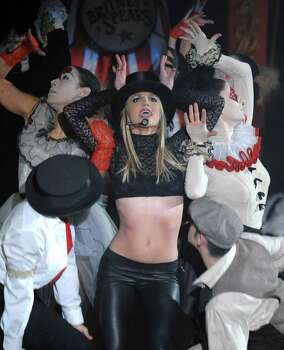 "Singer Britney Spears performs on ABC's ""Good Morning America"" show at the Big Apple Circus in New York on Tuesday, Dec. 2, 2008. Photo: Peter Kramer, AP / KRAPE"