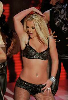 Britney Spears performs at the MTV Video Music Awards held at the Palms Hotel and Casino on Sunday, Sept. 9, 2007, in Las Vegas. Photo: Mark J. Terrill, AP / AP