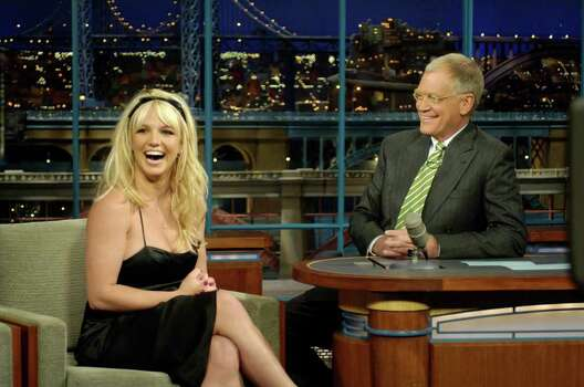 juliecooper caption: In a surprise appearance, pop superstar Britney Spears tells David Letterman the news that she's pregnant with her second child on the LATE SHOW with DAVID LETTERMAN, Tuesday, May 9 on the CBS Television Network. This will be the second child for Spears and her husband, Kevin Federline, who already have a son, Sean Preston, who was born last September.Photo: Jeffrey Neira/CBS©2006 CBS Broadcasting Inc. All Rights Reservedcopyright: Photo: Jeffrey Neira, CBS / ©2006 CBS Broadcasting Inc. All Rights Reserved