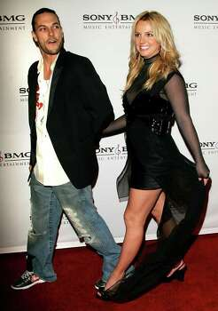 Britney Spears and her husband Kevin Federline arrive for the Sony BMG Grammy Party in Los Angeles Feb.  8, 2006. Federline is ready for a backlash over his brand-new role as white-boy rapper. But it already can't get worse, the dancer and wife of pop star Britney Spears told Newsweek for its issue on newsstands Monday, Feb 20, 2006. Photo: CHRIS POLK, AP / CHRIS POLK