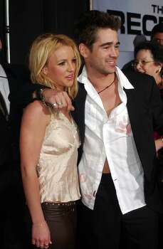 "Collin Farrell, who stars in ""The Recruit,"" arrives at the film's premiere with Britney Spears, Tuesday, Jan. 28, 2003, in the Hollywood section of Los Angeles. Photo: RENE MACURA, AP / AP"