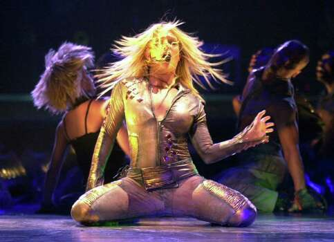 Britney Spears performs Tuesday, June 4, 2002, in Los Angeles. Photo: KRISTA NILES, AP / AP