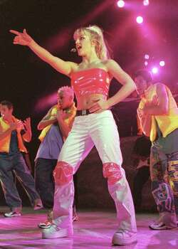 "FEATURES / ADVANCE FOR JIM KIEST --  Britney Spears kicks off her ""Baby One More Time"" tour at the Pompano Beach Amphitheater Monday, June 28, 1999 in Pompano Beach, Fla. Spears, from Kentwood, La., will tour through mid September. (AP Photo/Terry Renna) Photo: TERRY RENNA, Associated Press / AP"