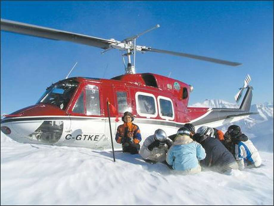 RK Heliski guides lead groups of just five women. The package includes three nights at Firlands Ranch, a wine and cheese reception, and a gourmet cooking class. Photo: RK Heliski