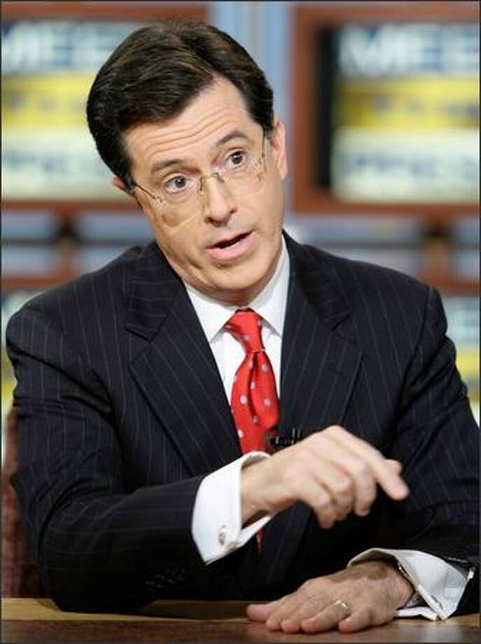 "A writers' strike would put pressure on even the quick-witted Stephen Colbert, host of ""The Colbert Report."" Photo: / Getty Images"