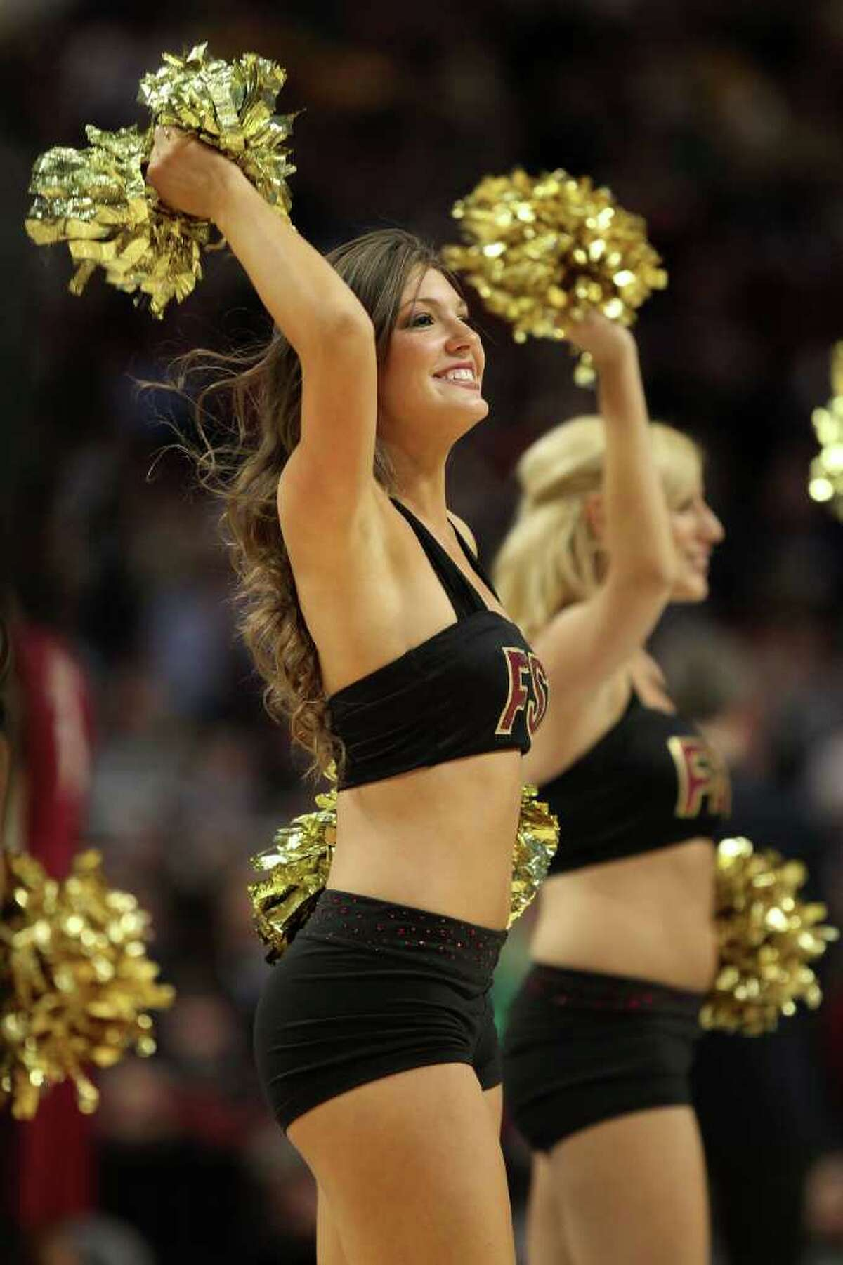 CHICAGO, IL - MARCH 20: The Florida State Seminoles cheerleaders perform in the first half during the third round of the 2011 NCAA men's basketball tournament at the United Center on March 20, 2011 in Chicago, Illinois. (Photo by Jonathan Daniel/Getty Images)