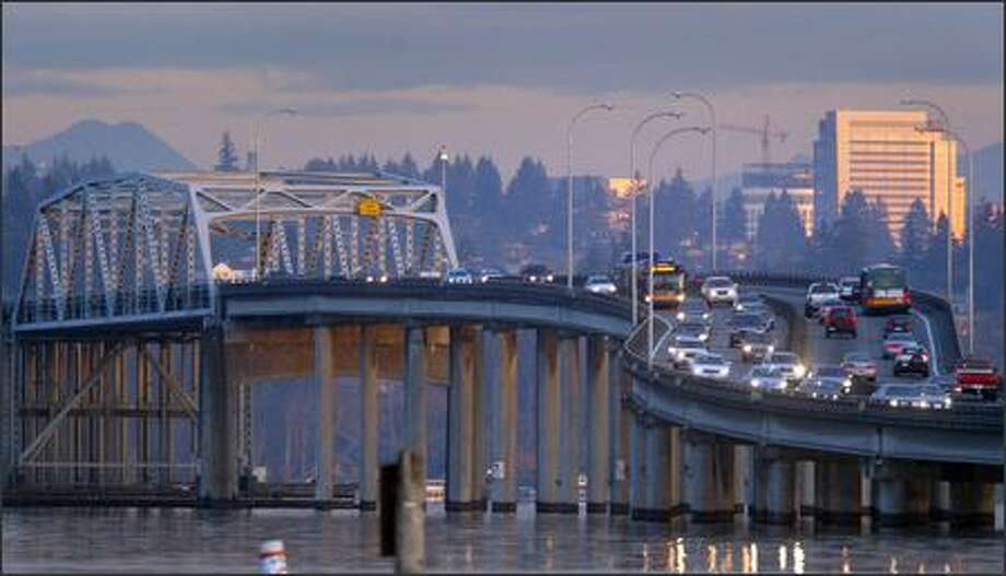 Proposition 1, the $47 billion roads and transit measure on Tuesday's ballot, includes money to replace the Evergreen Point Bridge, which is more than 40 years old and vulnerable in high winds or an earthquake. Photo: Joshua Trujillo/Seattle Post-Intelligencer