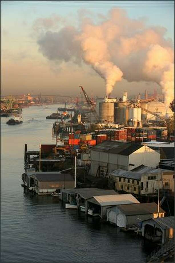 Over the past 100 years, dredging, the creation of Harbor Island and discharges of human waste and industrial contaminants have dramatically affected the Duwamish. Moreover, cleanup officials today don't even know the source of a lot of the pollution. Photo: Paul Joseph Brown/Seattle Post-Intelligencer