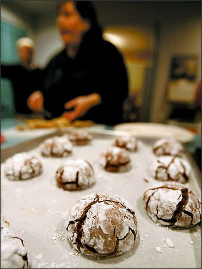 Chef Hope Sandler, who teaches a hands-on class at the Bon Vivant School of Cooking, shares her recipe for a chewy, fudgy Christmas treat -- chocolate cloud cookies. Cookie recipes don't have to be complicated to be good. Photo: SCOTT EKLUND/P-I