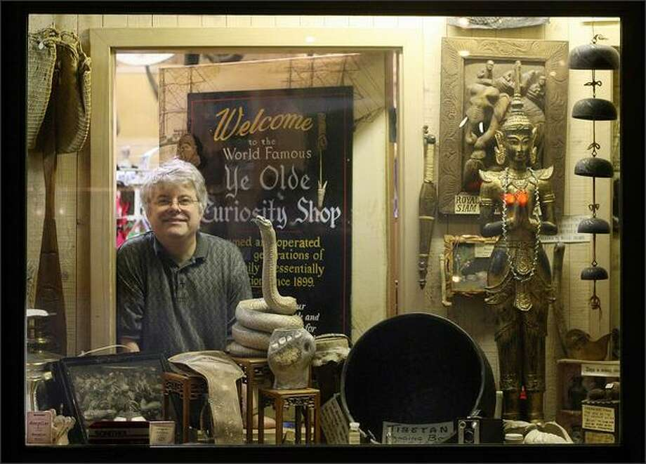 Andy James is the great-grandson of the founder Ye Olde Curiosity Shop and the current owner. Photo: DAN DELONG/P-I