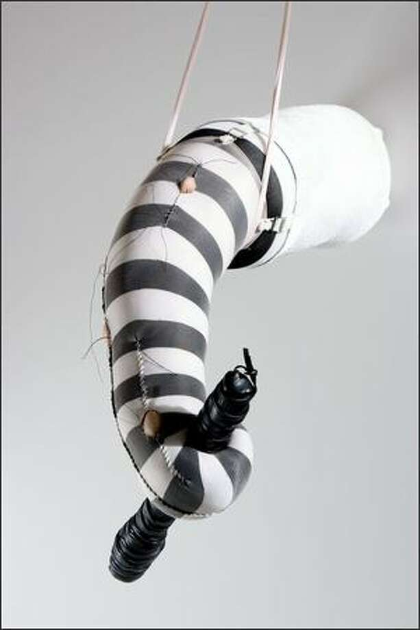 """Toughy,"" a 2007 mixed-media work by Jennifer McNeely. Photo: Stefan Gulassa"